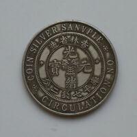 China of Silver Guangxu Dragon Jilin Province 100% Silver Coin  26.8g