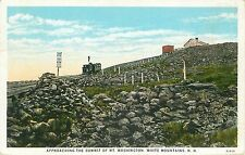 Approaching the Summit of MT Washington White Mountains NH   postcard posted