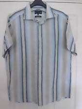 Marks and Spencer Autograph men's shirt size M in blue mix linen cortton