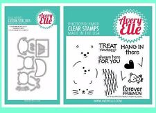 """Avery Elle """"HANG IN THERE"""" Clear Stamp and Elle-ments Die Bundle"""