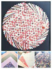DELUXE FOIL✨Set A Japanese Sakura Cherry Blossom Origami Paper Yuzen Chiyogami