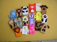 Set Of 5 Felt Animal Finger Puppets