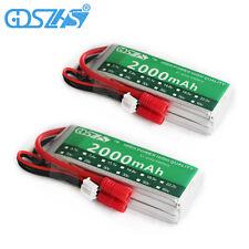 2PCS 7.4V 2000mAh 30C 2S Lipo Battery Banana Plug For Syma X8C Venture RC Helico