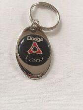 Dodge Coronet Keychain Chrome Metal Dodge Key Chain