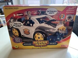 Rescue Heroes Mission Select Police Cruiser New In Box Fisher Price NEW SEALED
