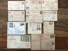 11 X RUSSIA OLD POSTCARD COVER COLLECTION LOT REGISTERED !!