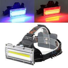 Linterna Frontal USB Recargable de cabeza luz LED 9000LM COB Impermeable