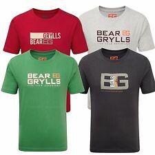 Bear Grylls Childrens Kids T Shirt Printed Boys Adventure Bear Logo 100% Cotton