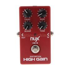 NUX HG-6 Red Distortion High Gain Electric Guitar Effect Pedal True Bypass