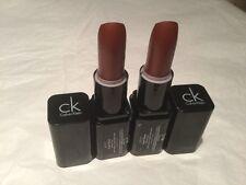 2 X Calvin Klein Luxury Cream Matte Finish Lipstick 3.5g Shade Heat Wave - New