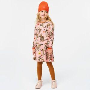 NEW MOLO Kitten Cat Pink Print Dress Girls sz 9 10 yrs
