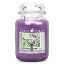 Goose Creek 24oz Large Sweet Petals Scented Premium Purple Candle Jar 2 Wicks