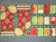 Christmas Stocking & Cards Quilting Fabric 25