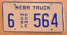 """Nebraska Mobile Home Truck License Plate """" 6 564 """" Ne"""