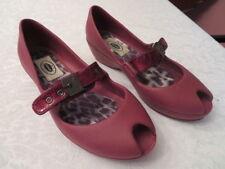 Dr. Scholls Feel Crazy Good Raspberry Clogs Buckle Mary Jane Peep Toe Women's 7