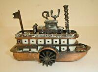 Vintage Die-Cast Metal Paddle Wheel River Boat Pencil Sharpener