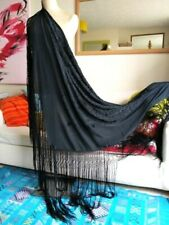 Stunning,authentic 100% silk Flamenco/piano shawl/manton. Large.Vintage. Fab