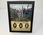 The Battle of Appomattox Civil War Bullet Set with Glass Top Display Case