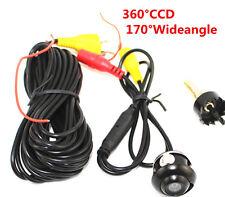 MINI 360 ° CCD HD Auto Telecamera Retromarcia lato anteriore/Vista posteriore di parcheggio colore SPY CAM