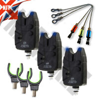 Bite Alarms Carp Coarse Fishing Blue LED Waterproof + Chunky Droppers + Rests
