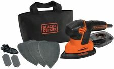 HEAVY DUTY BLACK & DECKER 120W ELECTRIC DETAIL PALM SANDER ORBITAL SHEET KA2000