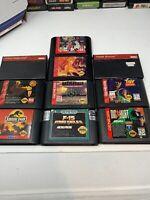 Lot Of 10 Sega Genesis Games. Tested . Shinobi, goldenaxe Sonic