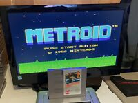 🔥100% WORKING NINTENDO NES RARE 5-SCREW Game Cartridge + Manual - METROID 🔥