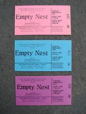 EMPTY NEST STARRING RICHARD MULLIGAN DINAH MANOFF ORIGINAL 1993 TV TICKETS