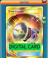 Great Catcher - 264/236 Full Art Secret Rare PTCGO Online Digital Card