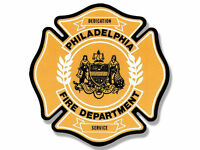 "4"" philadelphia fire department bumper sticker decal made in usa"