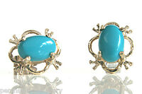 9ct Gold Turquoise Studs Earrings Made in UK Gift Boxed Birthday Gift