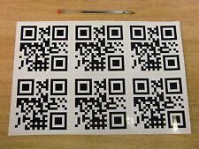 6 di sconto personalizzato codice QR Decalcomanie 100mm-NERO + BIANCO