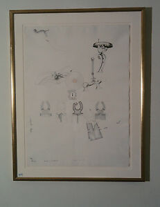"COLIN LANCELEY Original Pen & Ink Drawing 76 x 56cm ""ANXIOUS DEBUTANTES 66"""