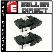 2 X hermano pt1000/pt1010 12 Mm. Compatible y cintas de etiquetas Tz231