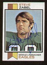 Steve Zabel signed autograph auto 1973 Topps Football Card