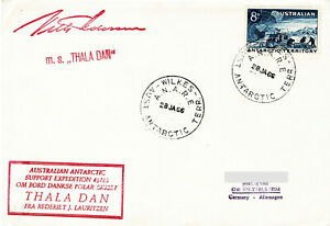 Polarpost: Expedition Antarctique Francaise - THALA DAN - Wilkes - 28.01.66