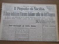Il Popolo di Sicilia - Le parole di Mussolini da scolpire nelle sedi - 12/5/1936