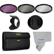 62mm Filter Kit UV CPL FLD /CAP/ HOOD FOR Nikon AF-S DX NIKKOR  AND CANON LENSES