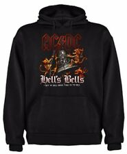 SUDADERA ACDC HELL BELLS MUSICA ROCK HEAVY METAL AC/DC HOODIE SIL Ma002