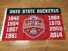 Ohio State Buckeyes Flag 3x5 Feet Banner college football ncaa gloves