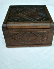 Carved heirloom sono  Wood Jewelry keepsake box Bali indonesia