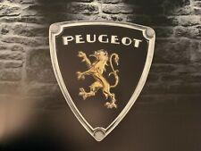 Enseigne Plaque Décorative Garage PEUGEOT Logo époque 1950 à 1960