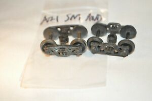 """HO scale PARTS freight car trucks sprung metal Athearn Andrews w/ 33"""" wheels"""