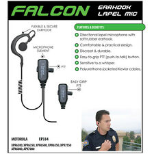 FALCON Police Earpiece Headset for Motorola APX & XPR Two Way Radios (See List)