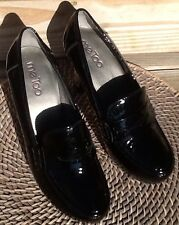 ME TOO 6 M BLACK PATENT LEATHER CASUAL WORK HEEL PUMP WEDDING DRESS PARTY SHOE