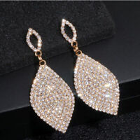 Luxury Crystal Earrings Fashion Bridal Wedding Big Dangle Drop Earring For Women