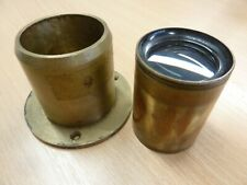 """Old Dallmeyer(?) 3 3/8th"""" (86mm) PROJECTION LENS in Brass Focusing Mount"""