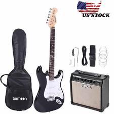 Hot Beginner Electric Guitar Black+15W Amp+Free Bag Strap String+Free Ship D9M6