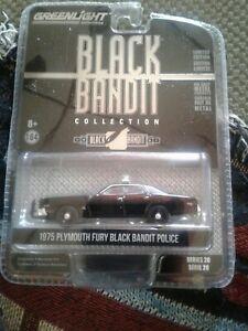 Black Bandit 1975 Plymouth Fury Black Bandit Police 1/64.