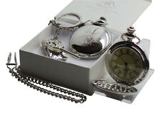 British Army Pocket Watch and Military Tank Keyring Luxury Cased Gift Box Set